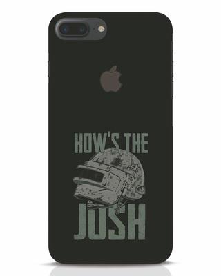 Shop Josh Pubg iPhone 7 Plus Logo Cut Mobile Cover-Front
