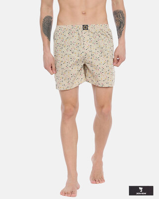 Shop Joven | Wayward Arrows White Printed Boxers-Front