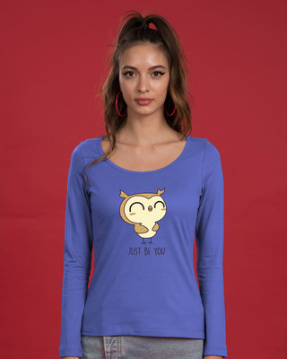 Shop Just Be You Scoop Neck Full Sleeve T-Shirt-Front
