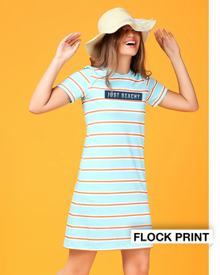 Shop Just Beachy Stripe Dress-Front