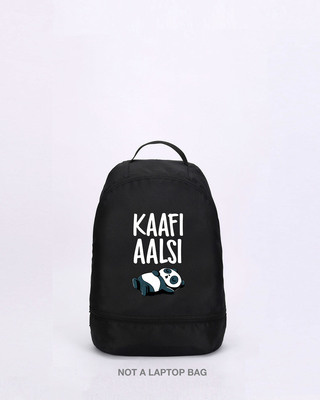 Shop Kaafi Aalsi Essential mini Backpack-Front