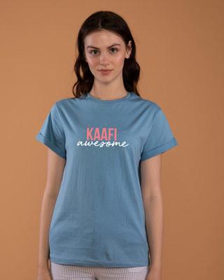 Shop Kaafi Awesome Boyfriend T-Shirt-Front