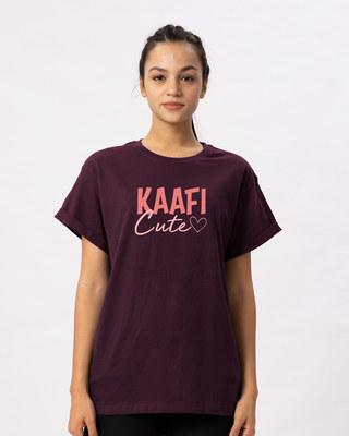 Shop Kaafi Cute Boyfriend T-Shirt-Front