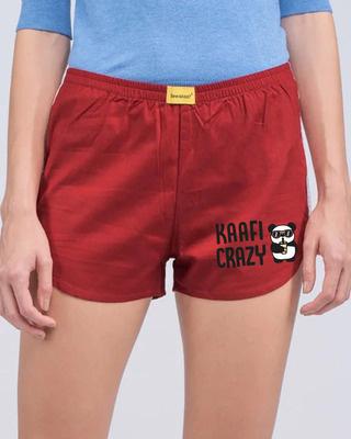 Shop Kafi Crazy Panda Side Printed Boxer-Front