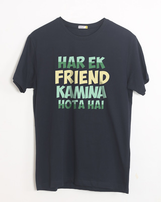 Shop Kamina Friend Half Sleeve T-Shirt-Front