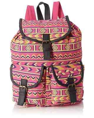 Shop Kanvas katha Canvas Stylish Multicolor Printed Backpack-Front