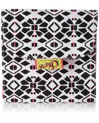Shop Kanvas Katha Trifold Sanitary Napkin Printed Canvas Pouch-Front