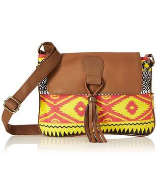 Shop Kanvas Katha Women's and Girls Crossbody Canvas Shoulder Sling Bag-Front