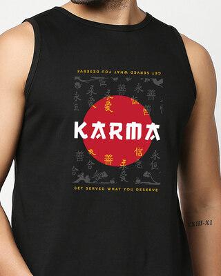 Shop Karma Fusion Vest Black-Front