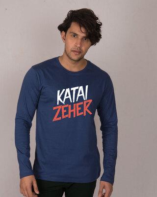 Shop Katai Zeher Full Sleeve T-Shirt-Front