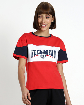 Shop Keep A Head Mickey Short Top-Front