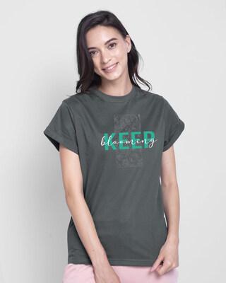 Shop Keep Blooming Boyfriend T-Shirt-Front