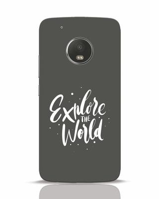 Shop Keep Exploring Moto G5 Plus Mobile Cover-Front