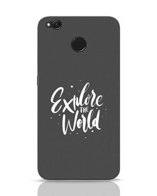 93708e52275 white stub Shop Keep Exploring Xiaomi Redmi 4 Mobile Cover-Front