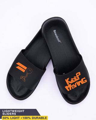 Shop Keep Moving Men's Printed Sliders-Front