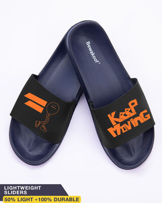 Shop Keep Moving Women's Printed Sliders-Front