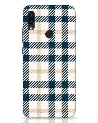 Shop Khaki Tartan Xiaomi Redmi Note 7 Pro Mobile Cover-Front