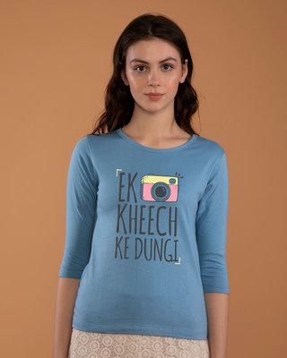 Shop Kheech Ke Round Neck 3/4th Sleeve T-Shirt-Front