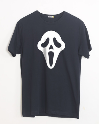 Shop Killer Mask Half Sleeve T-Shirt (GID)-Front