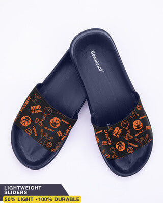 Shop Kind is Cool Men's Printed Sliders-Front