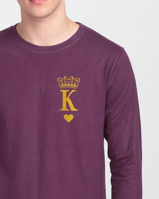 Shop King Pocket Gold  Full Sleeve T-Shirt-Front