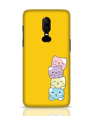 Shop Kitty Cats OnePlus 6 Mobile Cover-Front