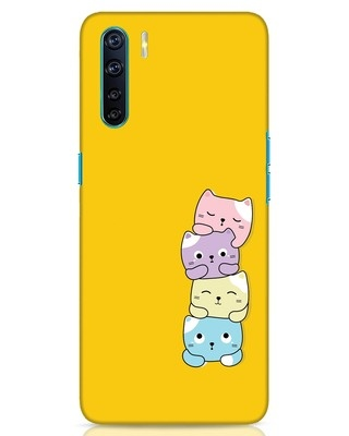 Shop Kitty Cats Oppo F15 Mobile Cover-Front