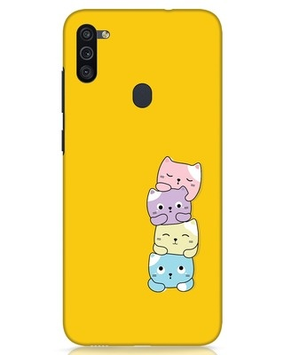 Shop Kitty Cats Samsung Galaxy M11 Mobile Cover-Front