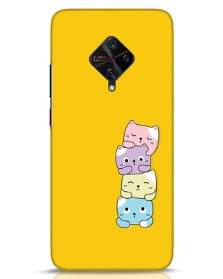 Shop Kitty Cats Vivo S1 Pro Mobile Cover-Front