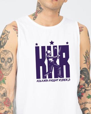 Shop KKR Batting Round Neck Vest-Front