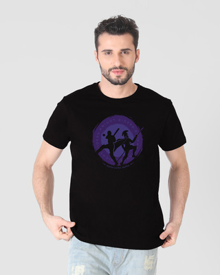 Shop Knight Riders Sigil Half Sleeve T-Shirt-Front