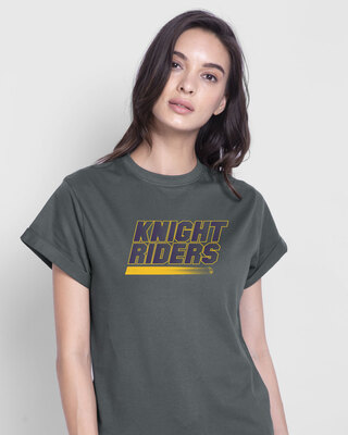 Shop Knight Riders Sporty  Boyfriend T-Shirt-Front