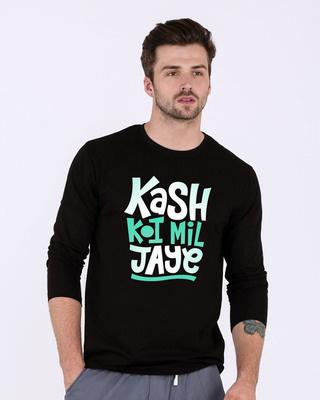 Shop Koi Mil Jaye Full Sleeve T-Shirt-Front