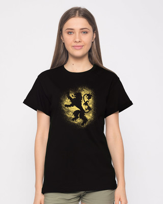 Shop Lannister Grunge Boyfriend T-Shirt (GTL)-Front