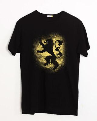 Shop Lannister Grunge Half Sleeve T-Shirt (GTL)-Front