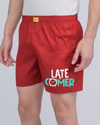 Shop Latecomer Side Printed Boxer-Front