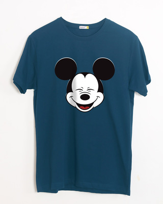 Shop Laughing Mickey Half Sleeve T-Shirt (DL)-Front