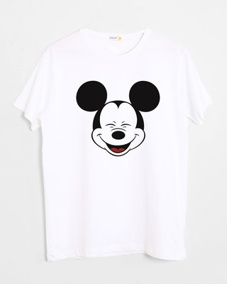 Buy Laughing Mickey Half Sleeve T-Shirt (DL) Online India @ Bewakoof.com
