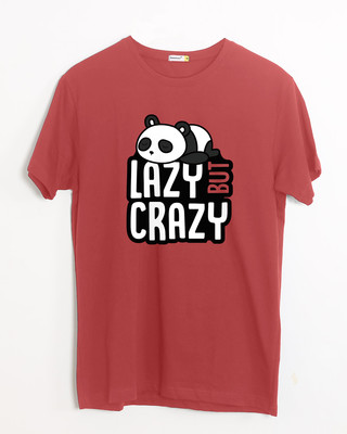 Shop Lazy But Crazy Half Sleeve T-Shirt-Front