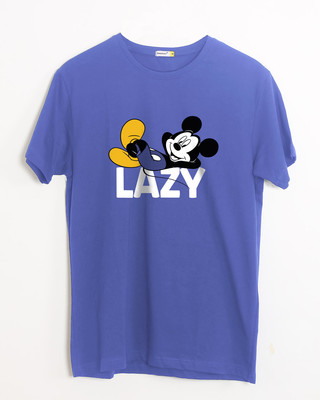 Shop Lazy Mickey Half Sleeve T-Shirt (DL)-Front