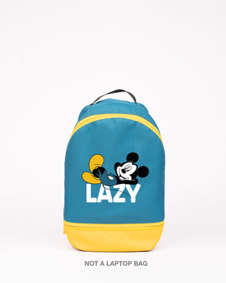 Shop Lazy Mickey Printed Small Backpack (DL)-Front