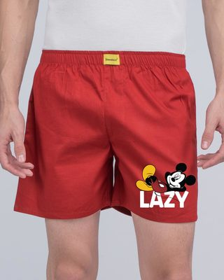 Shop Lazy Mickey Side Printed Boxer (DL)-Front