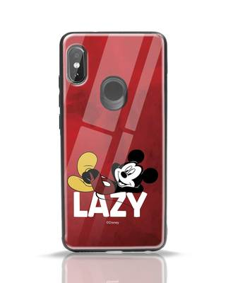 Shop Lazy Mickey Xiaomi Redmi Note 5 Pro Glass Mobile Cover-Front