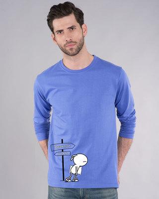 Shop Lazy Mr. Doe Full Sleeve T-Shirt-Front