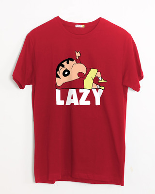 Shop Lazy Shinchan Half Sleeve T-Shirt-Front