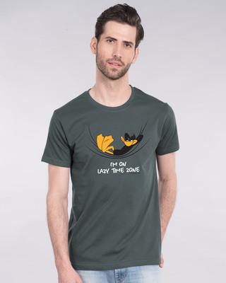 Shop Lazy Timezone Half Sleeve T-Shirt (LTL)-Front