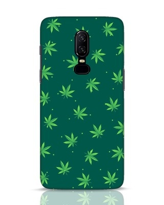 Shop Leaf Pattern OnePlus 6 Mobile Cover-Front