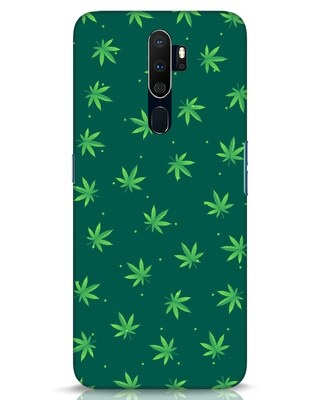 Shop Leaf Pattern Oppo A9 2020 Mobile Cover-Front