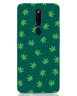 Shop Leaf Pattern Oppo F11 Pro Mobile Cover-Front