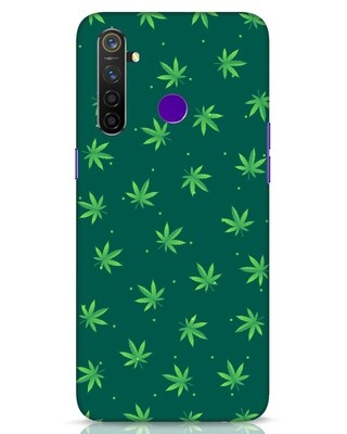 Shop Leaf Pattern Realme 5 Pro Mobile Cover-Front